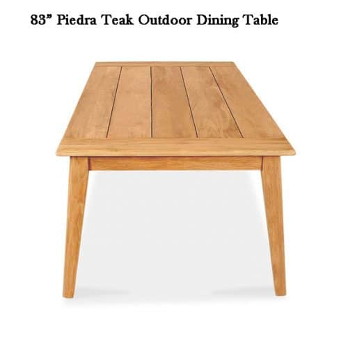 Piedra teak patio dining table 2