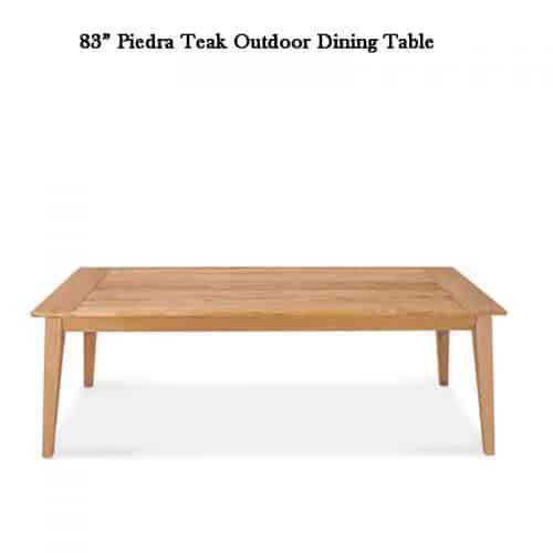 Piedra teak patio dining table 4