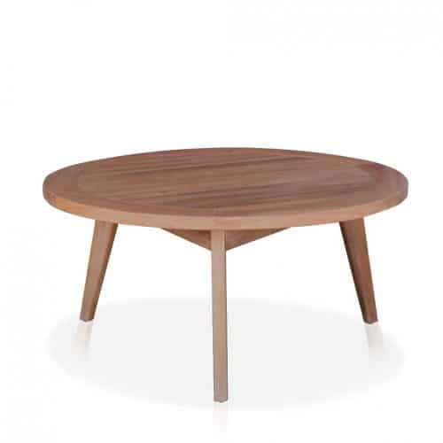 Rohm Round teak patio coffee-table