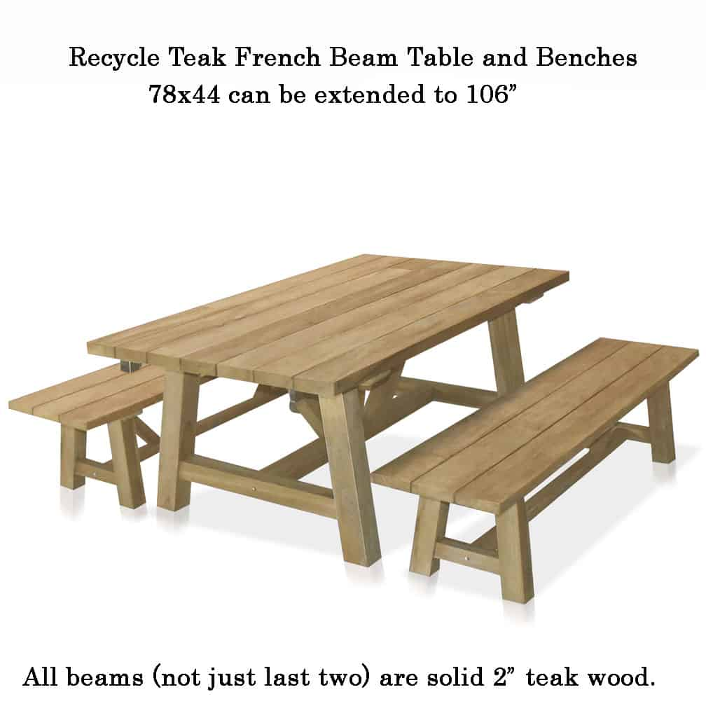 Magnificent 6 5 To 9 Feet Recycle Teak Rectangular French Beam Table Pabps2019 Chair Design Images Pabps2019Com