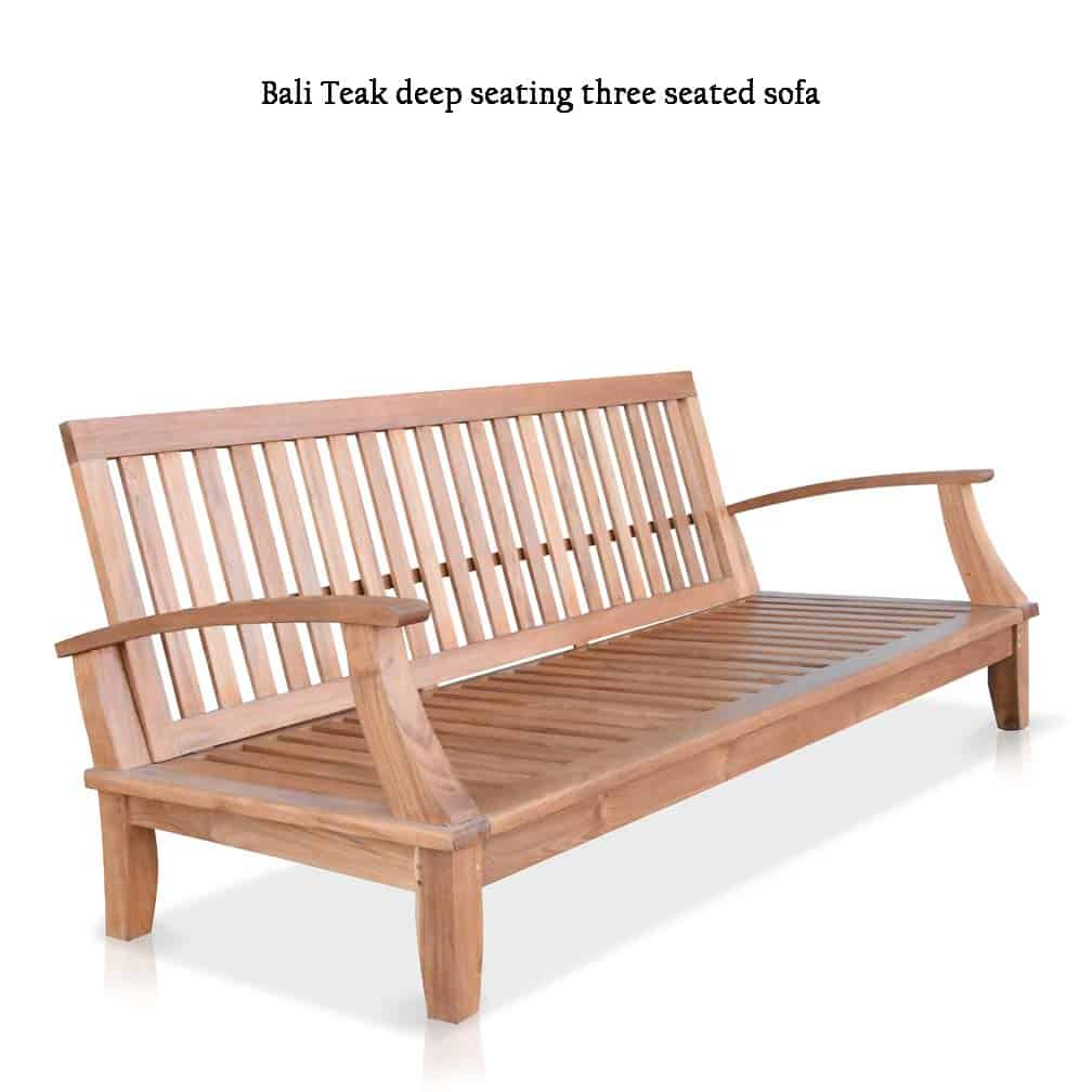Excellent Classic Teak Outdoor Three Seated Sofa Lounge Seat Bali Theyellowbook Wood Chair Design Ideas Theyellowbookinfo