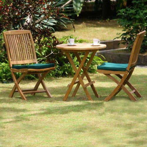 Teak outdoor folding dining set