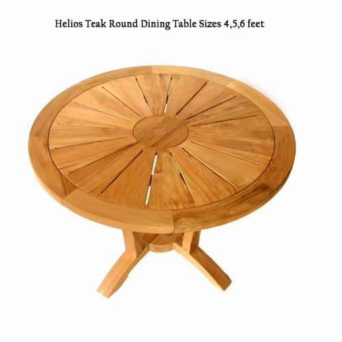 Teak patio round table