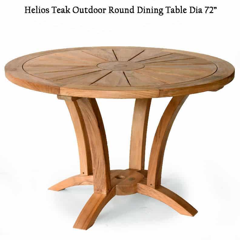 6 Feet Teak Heavy Built Round Outdoor Table Helios Teak Patio Furniture Teak Outdoor Furniture Teak Garden Furniture