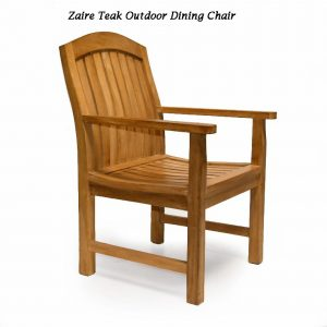 Teak Outdoor Patio Table Set – Titan Table & Zaire Chair