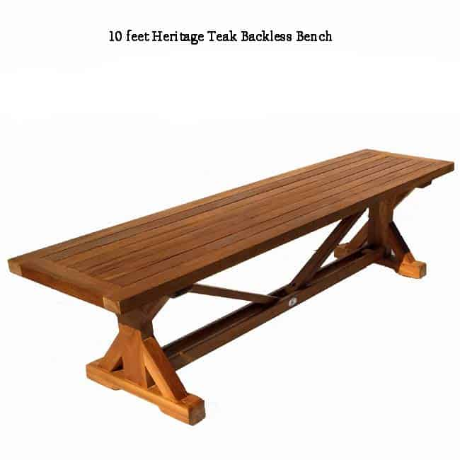 Fabulous 10 Feet Teak Backless Bench Heritage Ncnpc Chair Design For Home Ncnpcorg