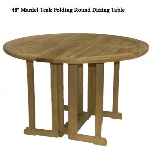 4 feet Teak Round Folding Outdoor Dining Table – Mardel