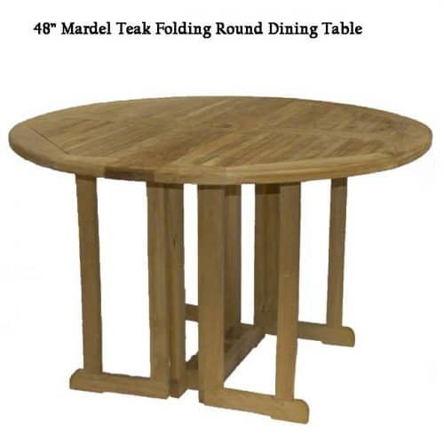 4 feet Mardel teak round outdoor table
