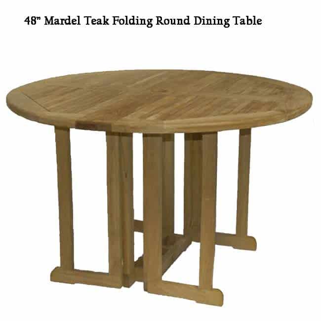 4 Feet Teak Round Folding Outdoor Dining Table Mardel Teak Patio Furniture Teak Outdoor Furniture Teak Garden Furniture