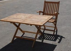 Rectangle Teak Folding Outdoor Dining Table – Sabina?