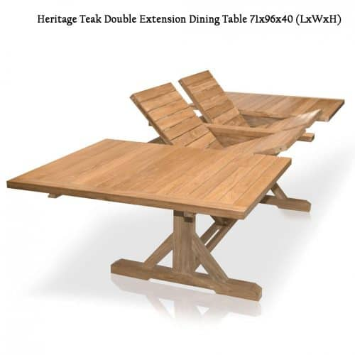 teak Outdoor beam double extension table