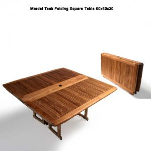 5 feet Teak Square Folding Outdoor Dining Table – Mardel
