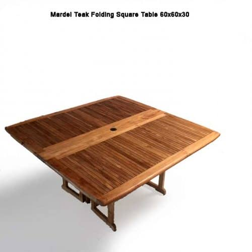 Mardel teak square folding table