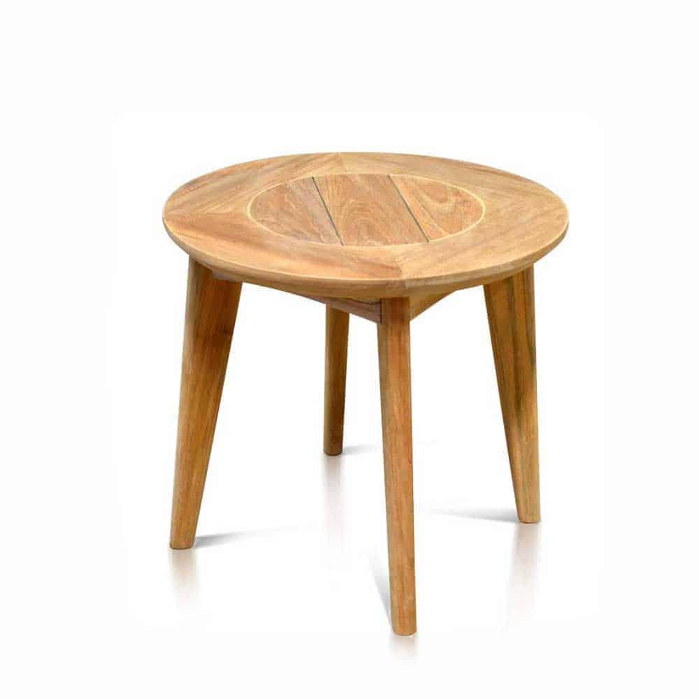 Round Teak Side Table.Mid Century Teak Outdoor Round Side Table Impression