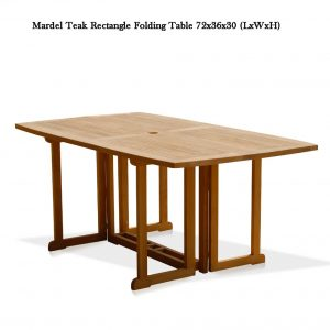 6 feet Teak Rectangle Folding Outdoor Dining Table – Olympus