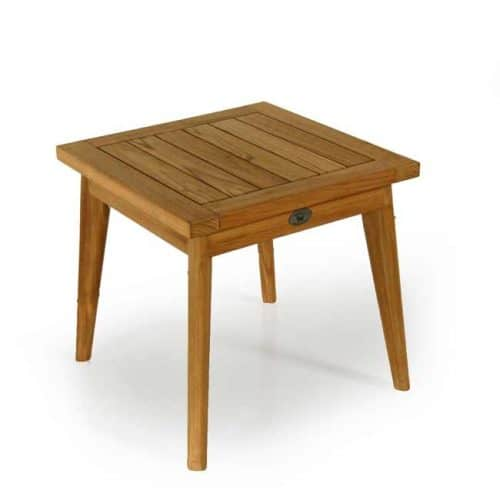 Olympus teak outdoor square side table