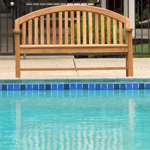 Parkview teak outdoor bench