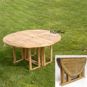 Rectangle Teak Folding Outdoor Dining Table – Sabina?