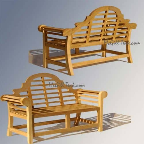 Lutyens teak Park bench