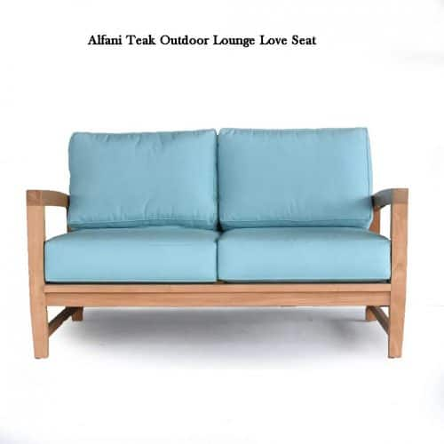 Teak outdoor Deep seating love seat