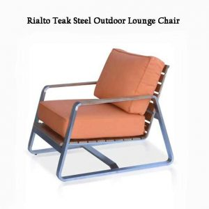 Teak Steel Outdoor Deep Seating Lounge Chair – Regnatt