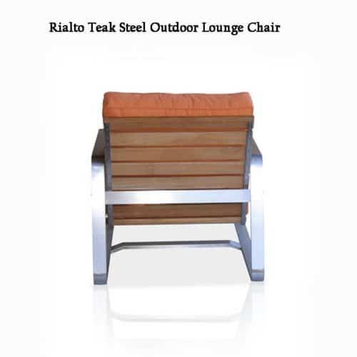 Teak steel deep seating outdoor chair