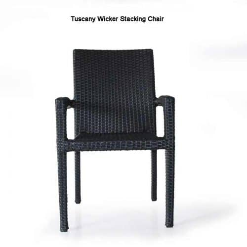 Tuscany teak wicker outdoor chair