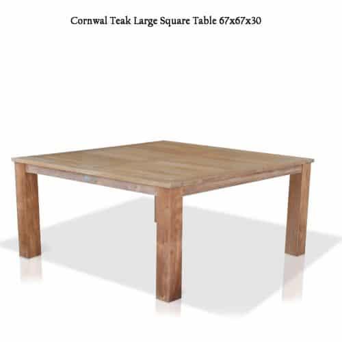 Cornwal teak square table