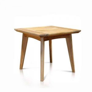 Mid Century Teak Outdoor Square Side Table – Impression