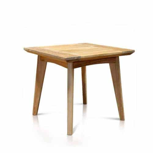 Scandinavian teak square end table