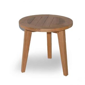 Teak Outdoor Round End Table – Olympia