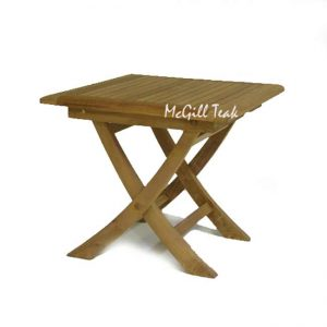 Teak Garden Square End Table – Sirus