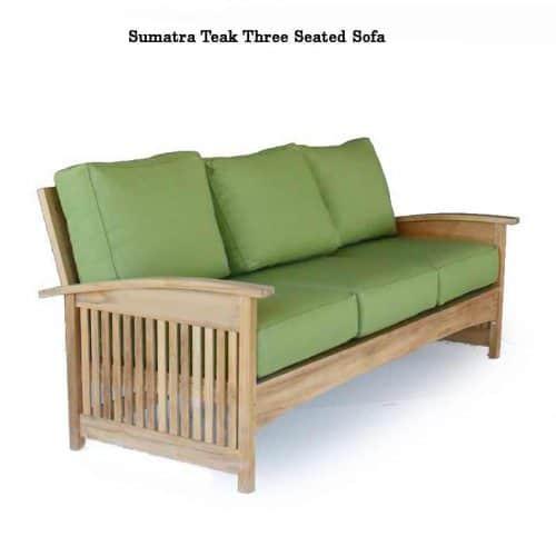 Sumatra teak outdoor sofa