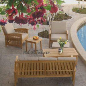Teak Outdoor Deep Seat Lounge Sofa – Sumatra