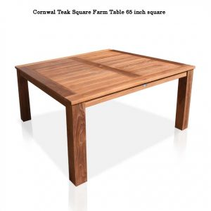 Teak square farm table cornwal