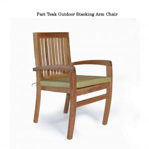 Teak Patio Stacking Dining Chair – Pari