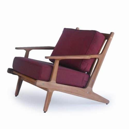 Teak Deep Seat Lounge Scandinavian club chair