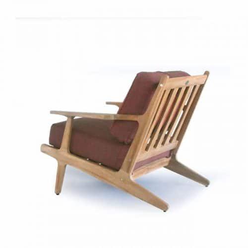 Teak Lounge Deep Seat- Rogan- mid-century