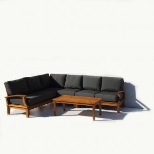 Teak Deep Seating L- Shape Sectional – Bali