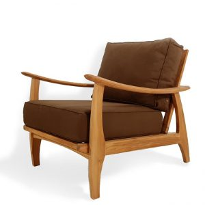 Teak Outdoor Deep Seating Mid Century Lounge Chair – Assena