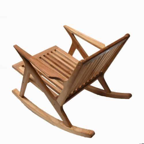 Mid-century-Z-Rocking-teak-chair