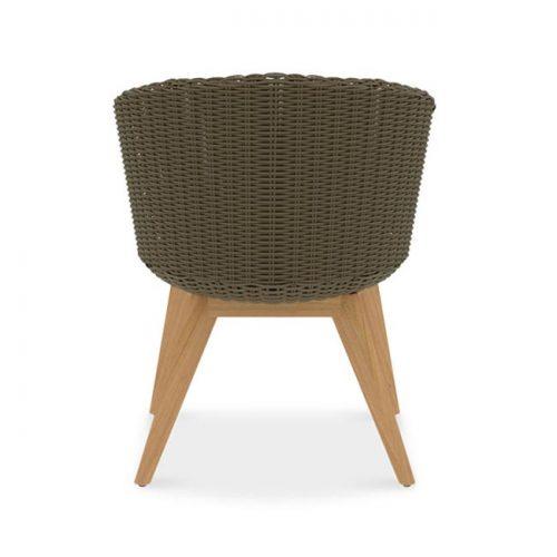 Teak wicker outdoor chair