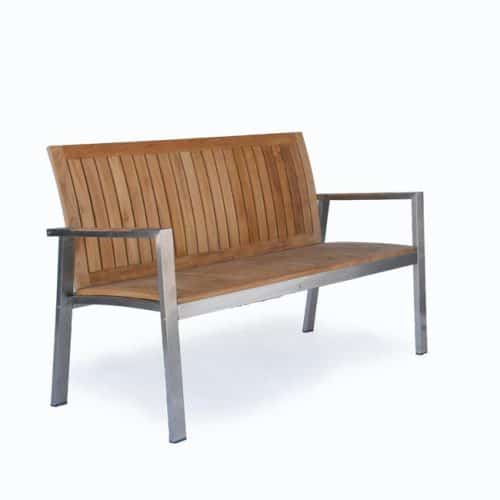 Teak-steel-bench-5ft-Alzette