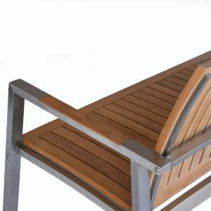 5 feet Teak-Steel Outdoor Patio Bench – Alzette