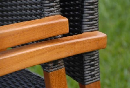 Teak-wicker stacking chair-Blaze