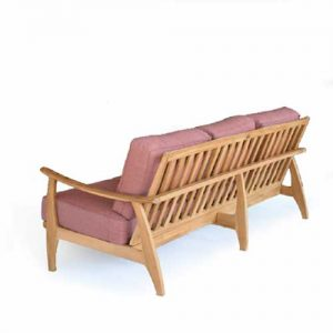 Mid Century Modern Teak Patio Three Seated Sofa – Assena