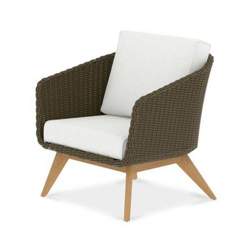 Teak Deep Seat Scandinavian club chair-Breeze