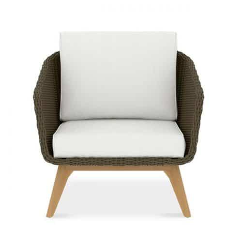 Teak Deep Seat Scandinavian club lounge chair-Breeze