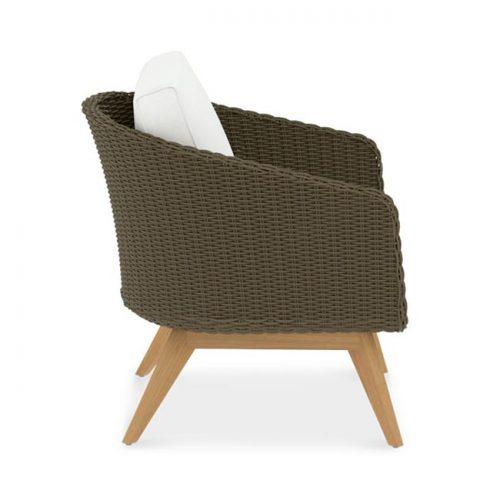 Teak Wicker Lounge Chair -Breeze