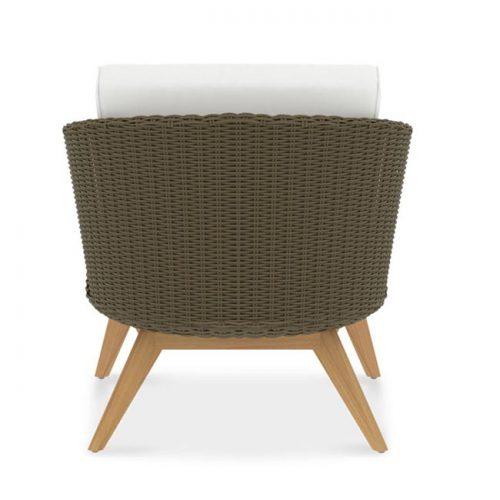 Scandinavian Teak Wicker deep lounge chair - Breeze